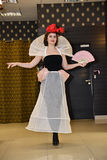 Fashion show 05.03.2017. Venue Single Bunny . Demonstration of headgear. Royalty Free Stock Images