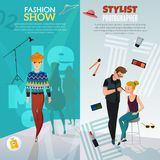 Fashion Show Vertical Banners Royalty Free Stock Photos