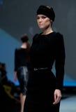 Fashion show.Woman on  podium. Stock Image