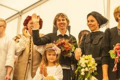 Fashion Show at 1250 years village celebration in Oberdigisheim stock photography