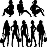 Fashion silhouette Royalty Free Stock Image