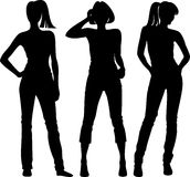 Fashion silhouette Royalty Free Stock Photography