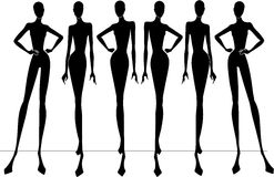 Fashion silhouettes Royalty Free Stock Image