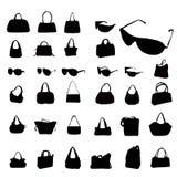 Fashion silhouettes. A   background  fashion silhouettes Stock Photos