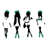 Fashion Silhouettes Stock Photo