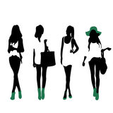Fashion Silhouettes Royalty Free Stock Photo