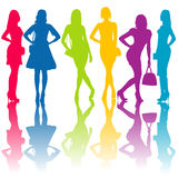 Fashion silhouettes of women Royalty Free Stock Photography