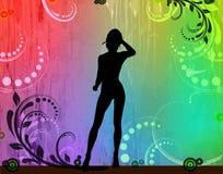 fashion silhouetteskvinnan Arkivfoton