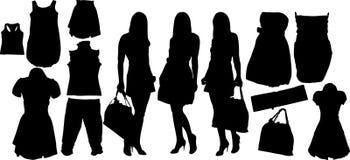 Fashion  silhuettes Stock Photos