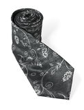 Fashion silk necktie isolated on white background. Fashion black silk necktie isolated on white background (clipping path included Stock Photo
