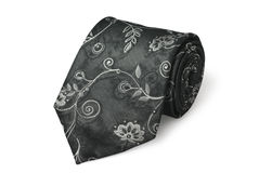 Fashion silk necktie isolated on white background Royalty Free Stock Photo