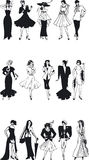Fashion Silouettes Stock Images