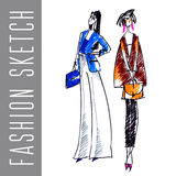 Fashion sketch Royalty Free Stock Photography