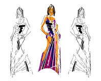 Fashion Sketch Illustration Royalty Free Stock Photo