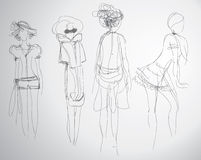 Fashion sketches Stock Image