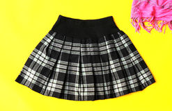 Fashion Skirt With Grid Pattern Royalty Free Stock Image