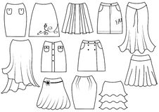 Fashion skirts for women Stock Images