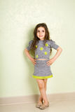 Fashion small girl Stock Images
