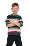 Fashion smiling little boy Stock Photo
