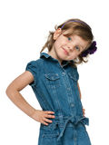 Fashion smiling little girl Royalty Free Stock Photos