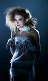 Fashion snapshot - funny model dressed as mummy Stock Image
