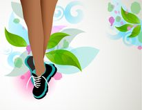 Fashion sneakers abstract Stock Photography