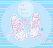 Fashion sneakers. Stock Image