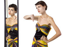 Fashion Snob Dislikes Outfit Stock Image