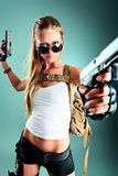 Fashion soldier Royalty Free Stock Images