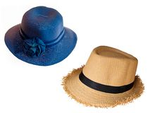 Fashion sombrero hat. Fashion sombrero hat isolated on white background Royalty Free Stock Photo