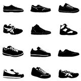 Fashion sport shoes. Fashion balck  sport shoes vector Royalty Free Stock Photography