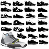 Fashion sport shoes Stock Photography