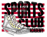 Fashion sports shoes modern sneakers illustration Royalty Free Stock Images