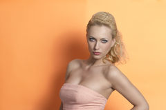 Fashion spring blonde woman Royalty Free Stock Photography