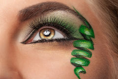 Fashion on stage make up with whirl at the eye Stock Photos