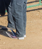 Fashion statement 2. Pointy boots at a country rodeo in Mexico Royalty Free Stock Images