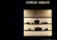 Fashion store armani Royalty Free Stock Image