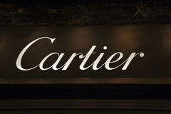 Fashion store cartier. A fashion store in bologna italy Royalty Free Stock Photography