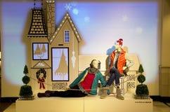 Fashion store christmas lights royalty free stock photo