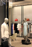 Fashion Store Display. Luxury store with male and female mannequins Stock Photo