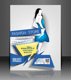 Fashion store Flyer Royalty Free Stock Photo