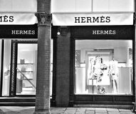 Fashion store hermes. A fashion store in bologna italy Stock Image