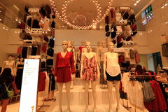 Fashion Store Interior View Royalty Free Stock Photography