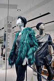 Fashion store mannequins. Mannequins with modern clothes in shop window Stock Photography