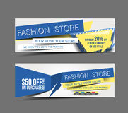 Fashion Store Promotion Header Stock Photography
