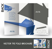 Fashion Store Tri-Fold Brochure Royalty Free Stock Images
