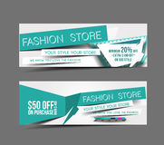 Fashion Store Web Banner Stock Images