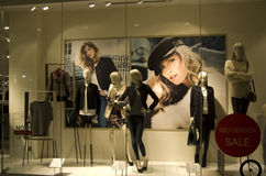Fashion store window Royalty Free Stock Images