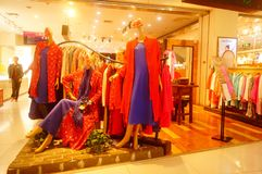 Fashion stores, women are looking for the latest fashions. In Shenzhen, china Stock Photo
