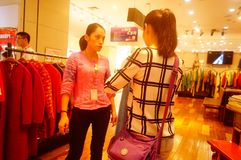 Fashion stores, women are looking for the latest fashions. In Shenzhen, china Stock Photography